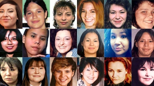 Faces of some of the murdered and missing