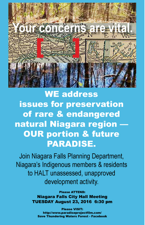 Poster courtesy of Niagara journalist and artist Julia Blushak