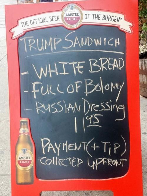 trump sandwhich best