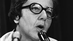 Ursula Franklin addressing an attentive audience in 1970