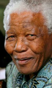 World renown civil rights and peach activist Nelson Mandela
