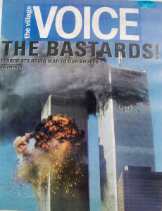 This cover page in the New York City-based Village Voice captures the reaction after the attacks