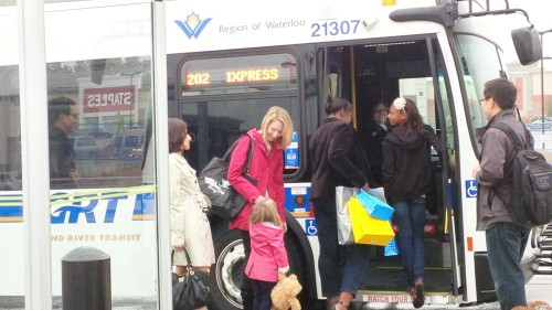 If you have paid to ride an inter-municipal bus in Niagara, check out the fares for getting on this Grand River Transit bus in Waterloo and weep. Click here to view the fares - http://www.grt.ca/en/fares/FarePrices.asp . Photo courtesy of Grand River Transit