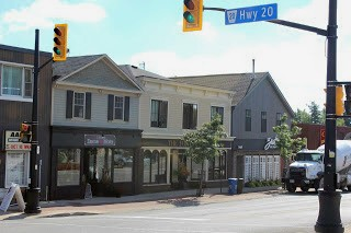 Some of the streetscape in a rejuvenated Downtown Fonthill. Photo courtesy of Town of Pelham