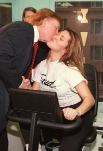 "Donald Trump had Miss Universe Alicia Machado working out in front of the press. When she gained some weight, he called her ""an eating maching"" and ""Miss Piggy."""