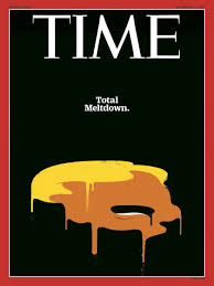 The creature is melting down on a recent cover of Time magazine.