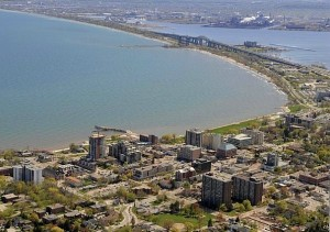 Nearby Burlington, Ontario with the City of Hamilton in the background