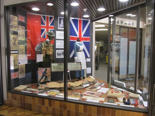 Photo of exhibit area courtesy of St. Catharines Library