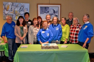 Niagara Falls Nature Club's board of directors gathers for 50th anniversary celebration. Photo by Michael Deeley.