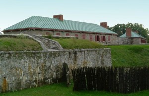 Old Fort Erie at the south end of the Niagara Parksway in the Town of Fort Erie, Ontaro - a historic setting for Niagara Park's speakers' series.