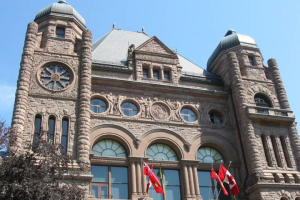 Ontario's Queen's Park legislative building in Toronto