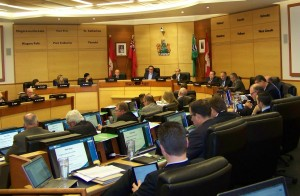 A recent meeting of Niagara regional council. File photo, Doug Draper