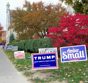 A polling station at the Unitarian Church on Buffalo's Elmwood Avenue on this November 8th U.S. election day. Photo by Doug Draper