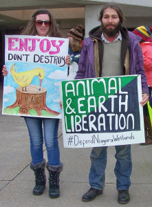 Growing numbers of Niagara area citizens are protesting further destruction of our wetlands and other natrual heritage.