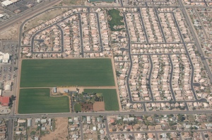 low density sprawl closing in on what's left of our food-growing lands