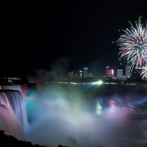Niagara Parks fireworks over the Falls