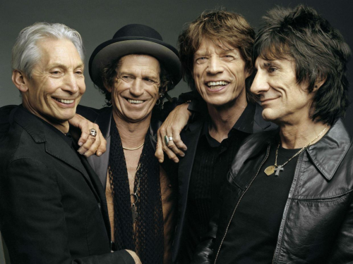 The core members of The Rolling Stones, from left, Charlie Watts, Keith Richards, Mick Jagger and Ron Wood