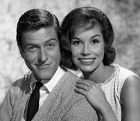 Mary with Dick Van Dyke in the early 1960s when she first made it big on The Dick Van Dyke Show