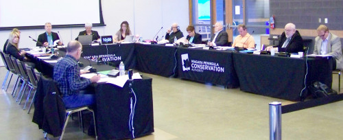 A 2016 meeting of the Niagara Peninsula Conservation Authority board. The board recently launched a lawuist against Niagara citizen Ed Smith who has been calling for a forensic audit of the NPCA's operations. File photo by Doug Draper