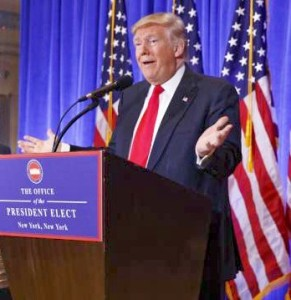 Trump performed as same old Trump at January 11th press conference - his first full press conference in six months. Photo for this Brock U. media release inserted by NAL.