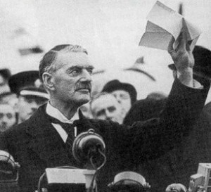 Here's hoping that somewhat like the late British prime minister and 1930 appeaser Neville Chamberlain, Canada's Prime Minister doesn't leave his meeting with Trump declaring, in so many words and ways 'peace in our time' and 'I can do business with this man'.