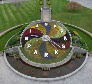 Niagara Park's iconic Floral Clock. Photo courtesy of Niagara Parks Commission