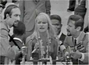 Peter, Paul and Mary in their early years, performing at the 1963 March on Washington where Martin Luther King delivered his iconic 'I Have a Dream' speech