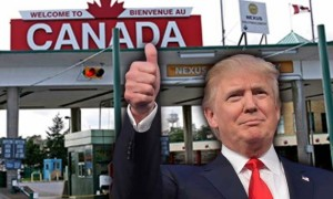 How much aim is Trump now taking on Canada-U.S. border
