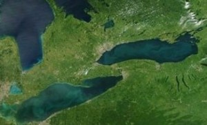 Our lower Great Lakes - now under political siege - from space,